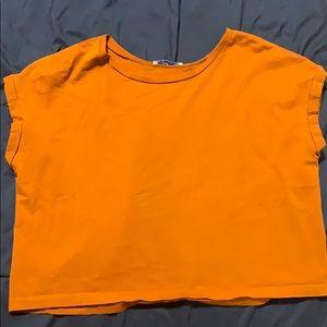 Burnt orange crop top